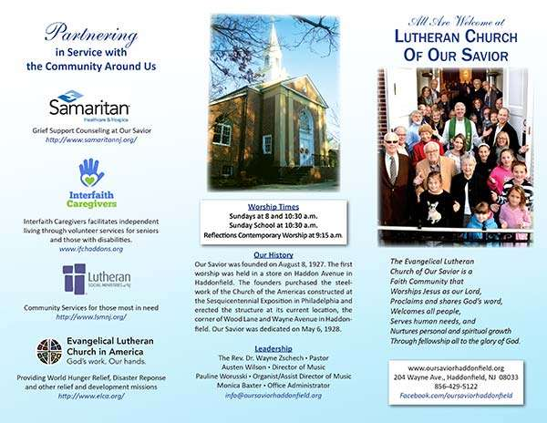 Lutheran Church of Our Savior Haddonfield Brochure