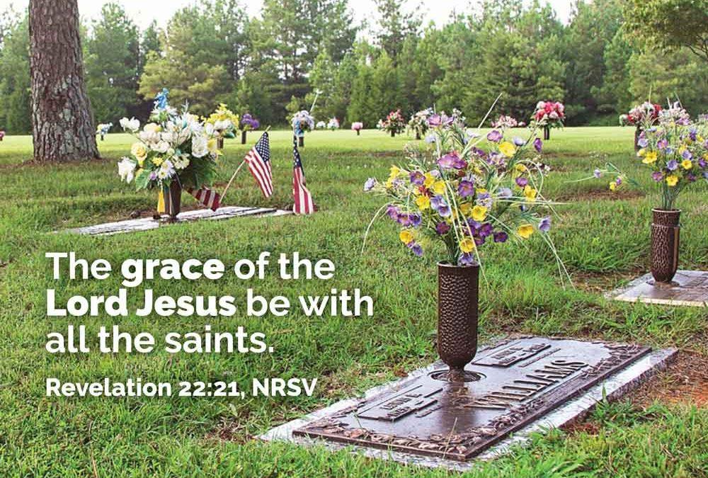 Worship Begins in Memorial Garden: All Saints Nov. 5th