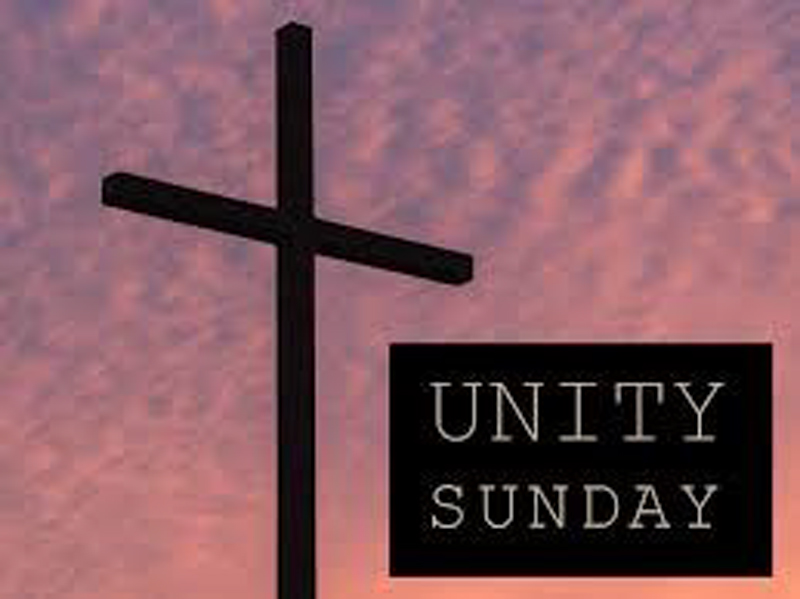 Unity Sunday 1/27. Combined Worship 9:30am.