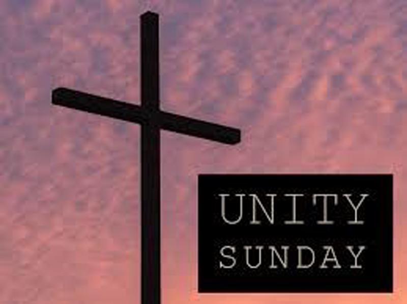 Unity Sunday 1/27. Combined Worship 9:30am.