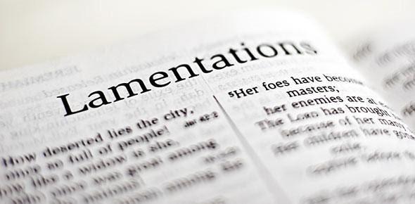 5-Week Bible Study of Lamentations Begins Week of Sep 28/30