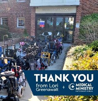 Thank you from Lori Greenawalt & Medical Ministry International